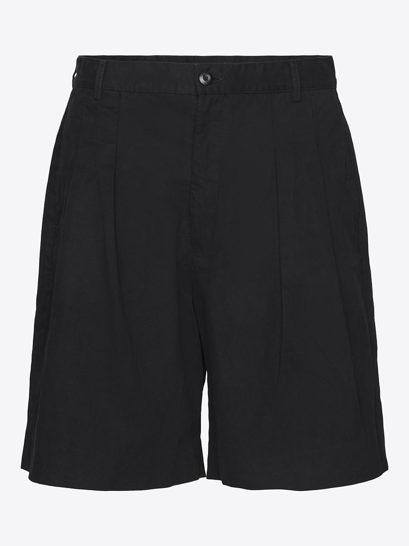 Gurkha shorts pleaded in black
