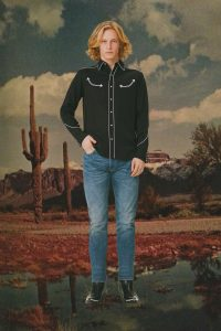 Smile pocket western shirt