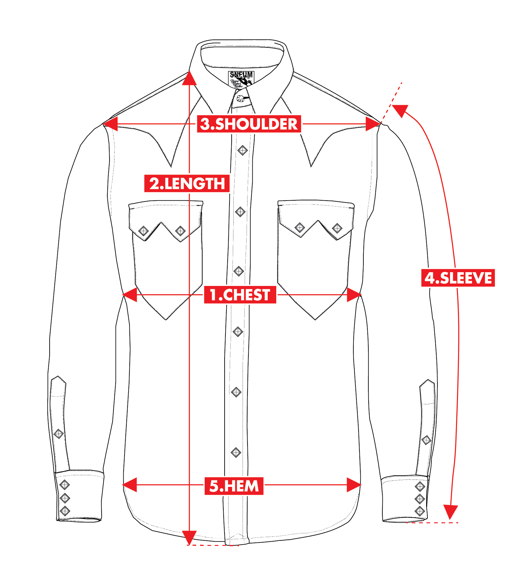 How-to-measure western shirts
