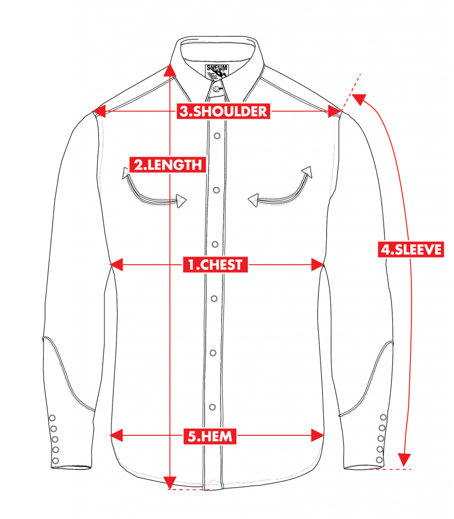 How to measure western shirt smile pockets
