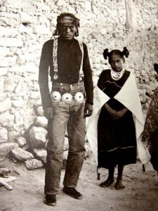 Hopi man and girl_Phase one Concho belt