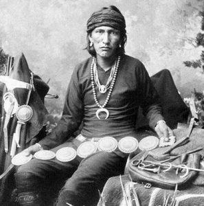 Navajo Silversmith w. Concho belt