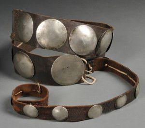 Plains German Silver Concha Belt