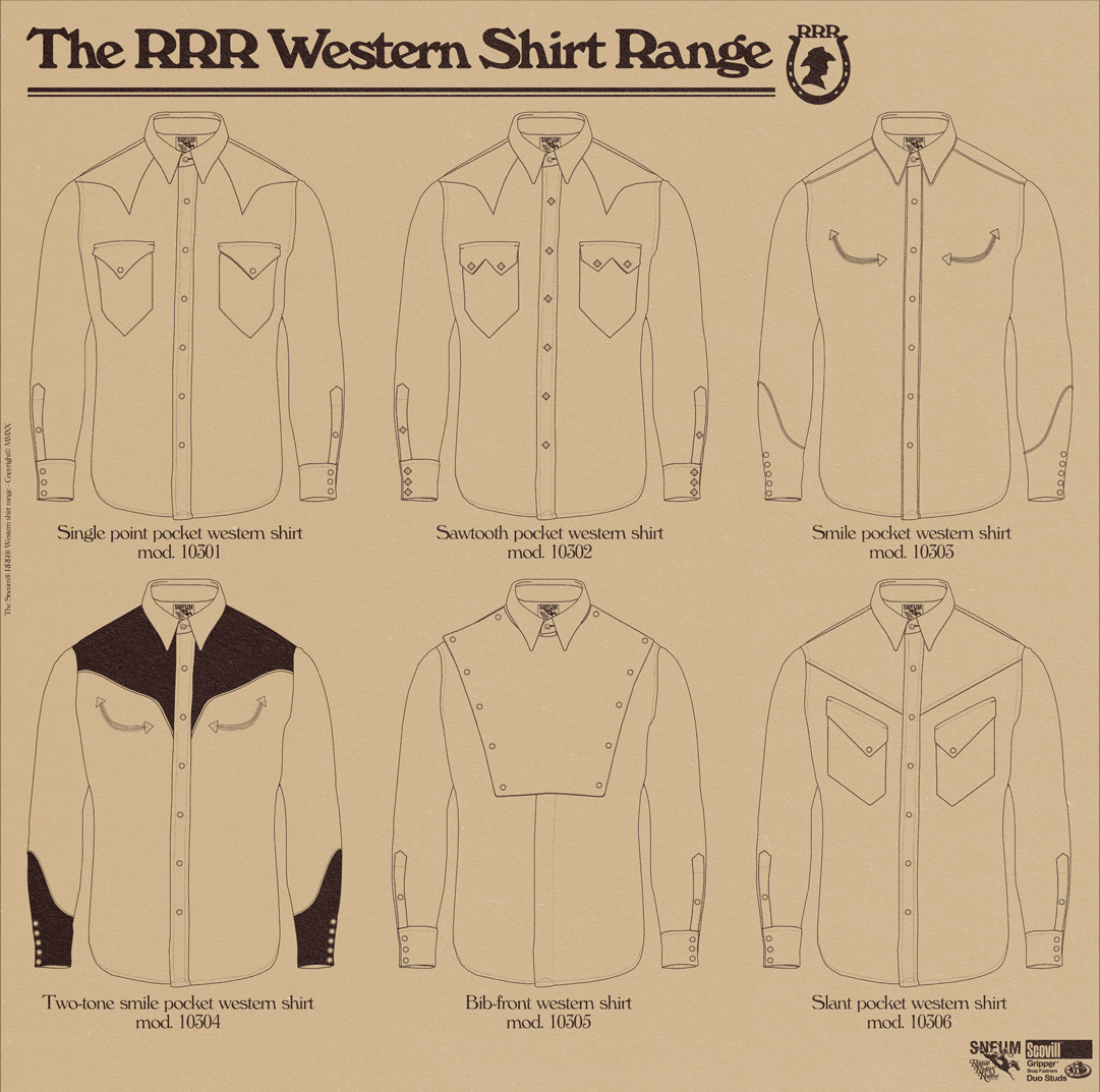 RRR western shirt range