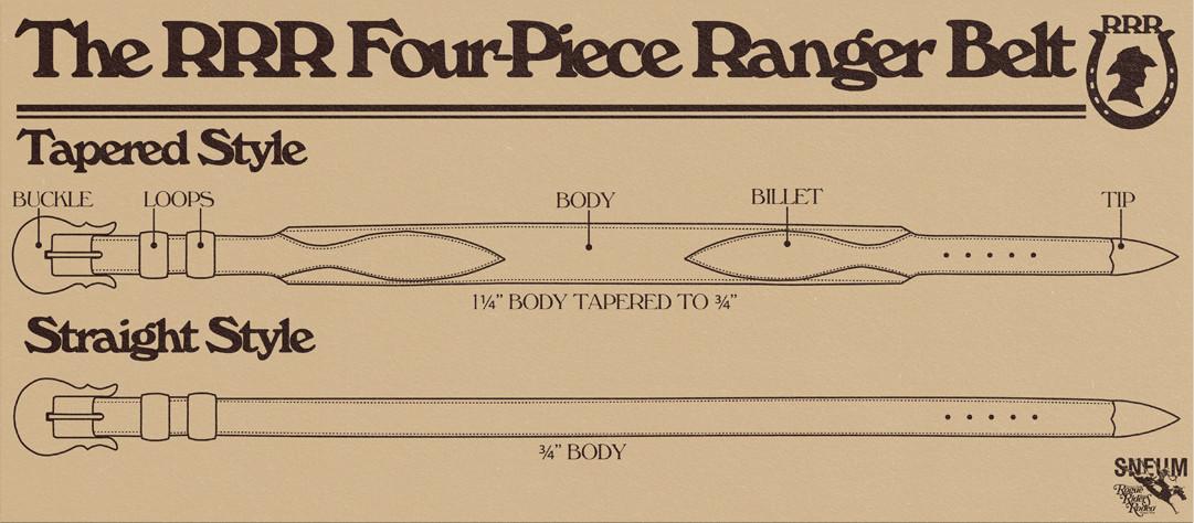 Ranger belts western wear