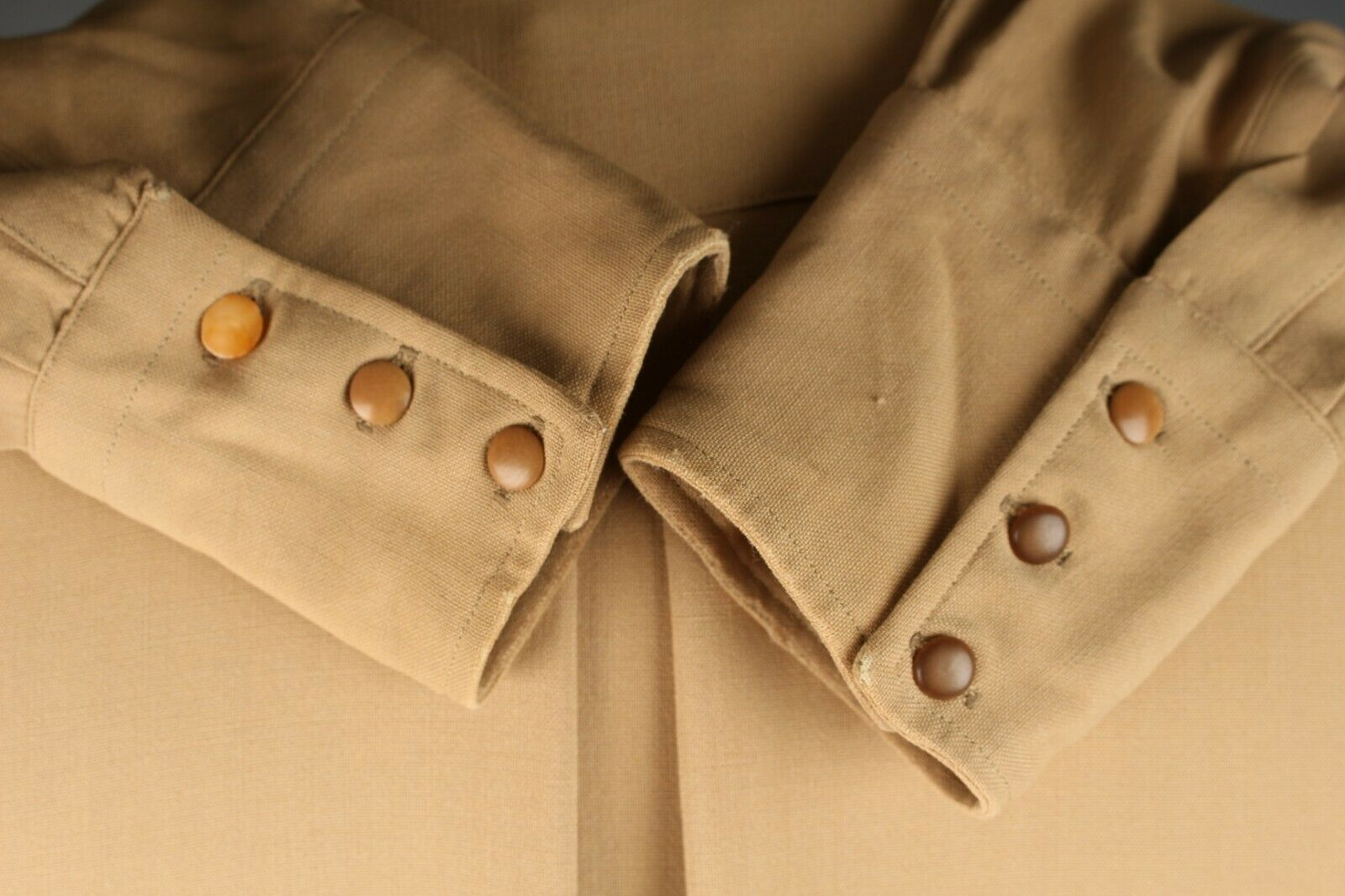 Shank buttons on early western shirts