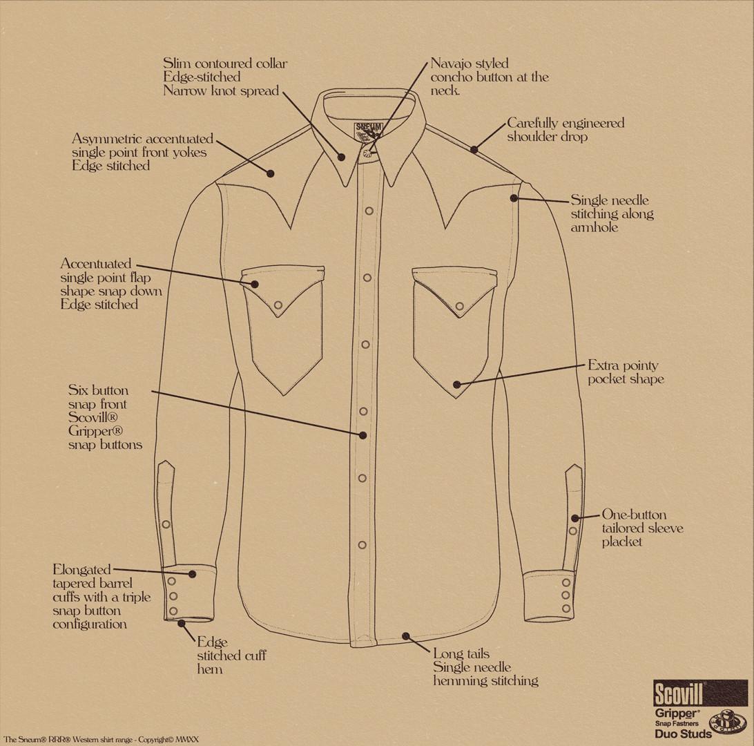 Single point pocket western shirt