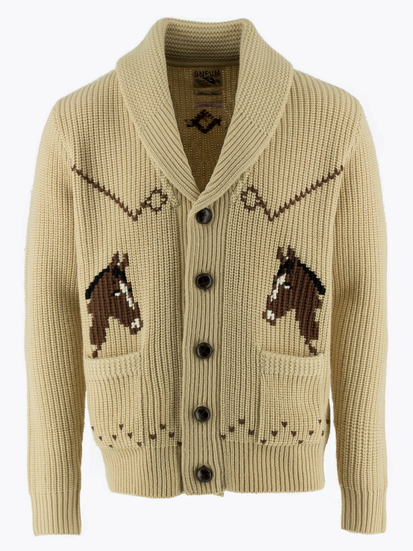 Cowichan hand knitted cardigan sweater