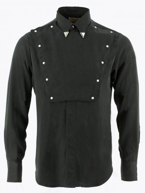 Bib-front western shirt