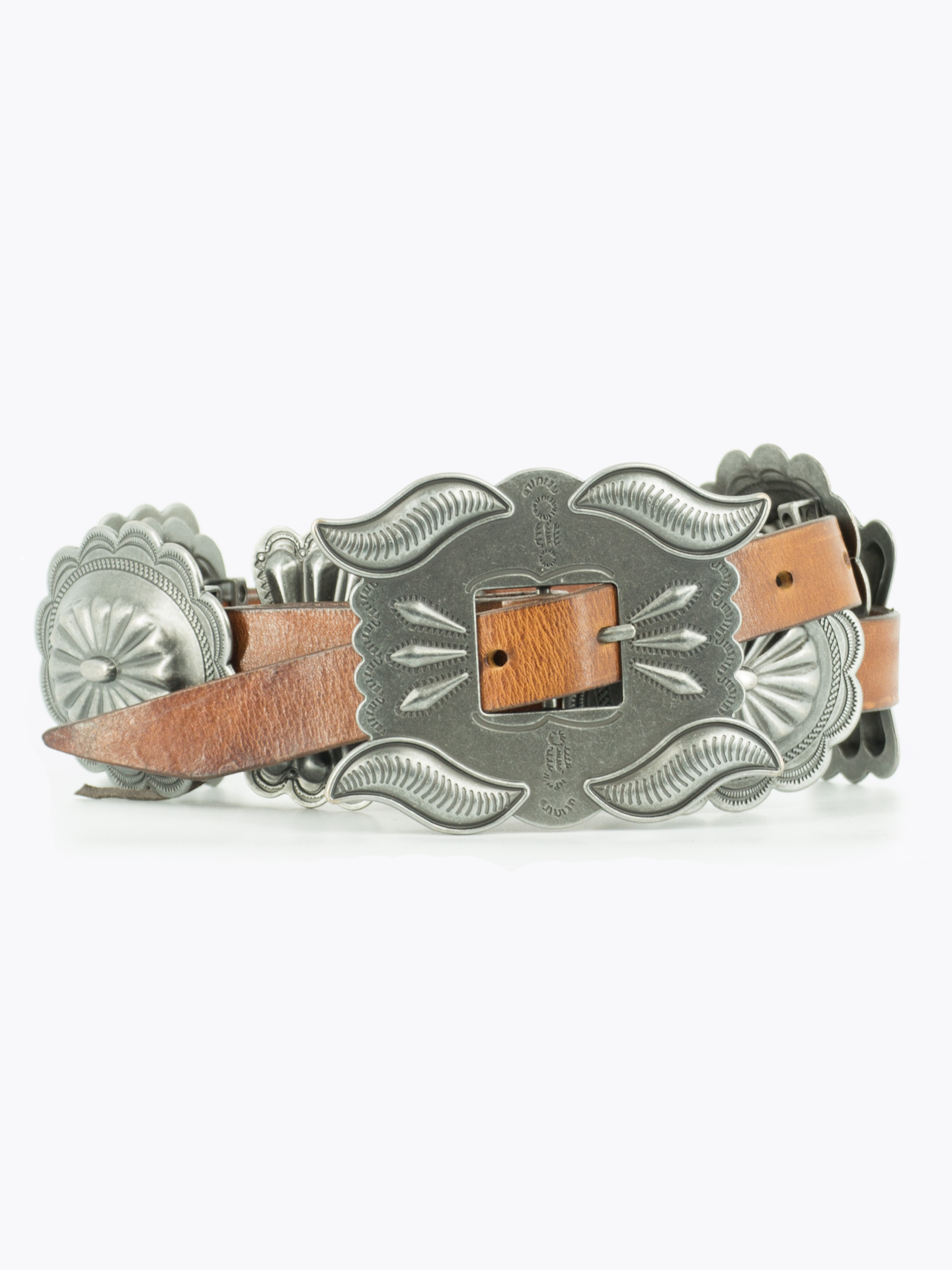 Concho leather belt Navajo