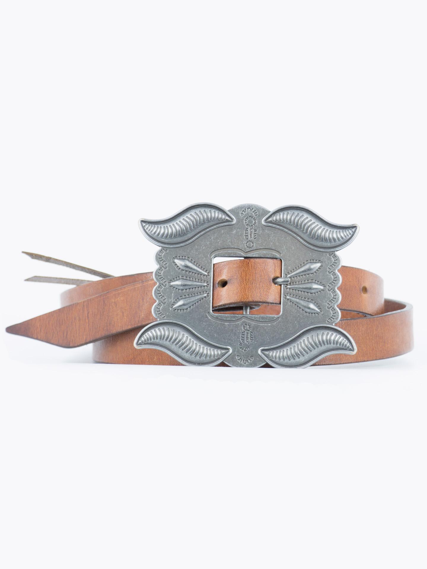 Concho leather belt Navajo Southwestern