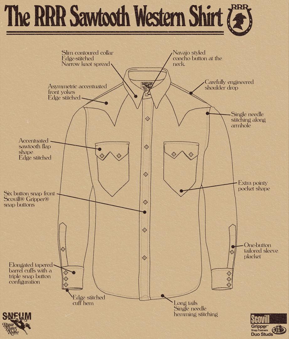 The sawtooth western shirt