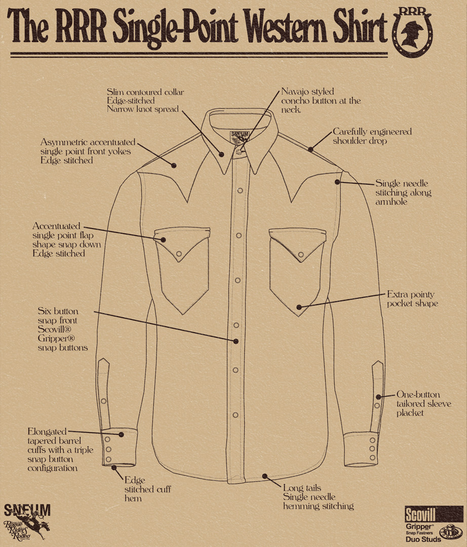 The single point western shirt