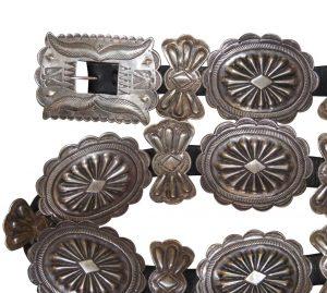 Third phase Navajo Silver Concho belt c.1940