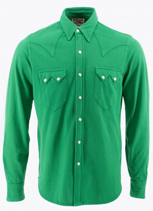 Sawtooth western shirt in 100% oranic cotton pique