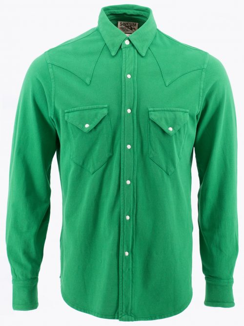 Single point western shirt in 100% oranic cotton pique