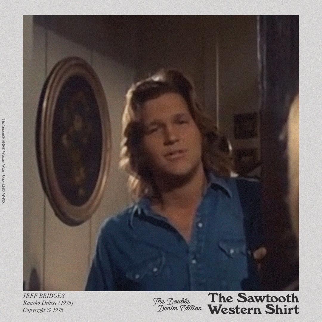 Jeff Bridges Sawtooth Western Shirt
