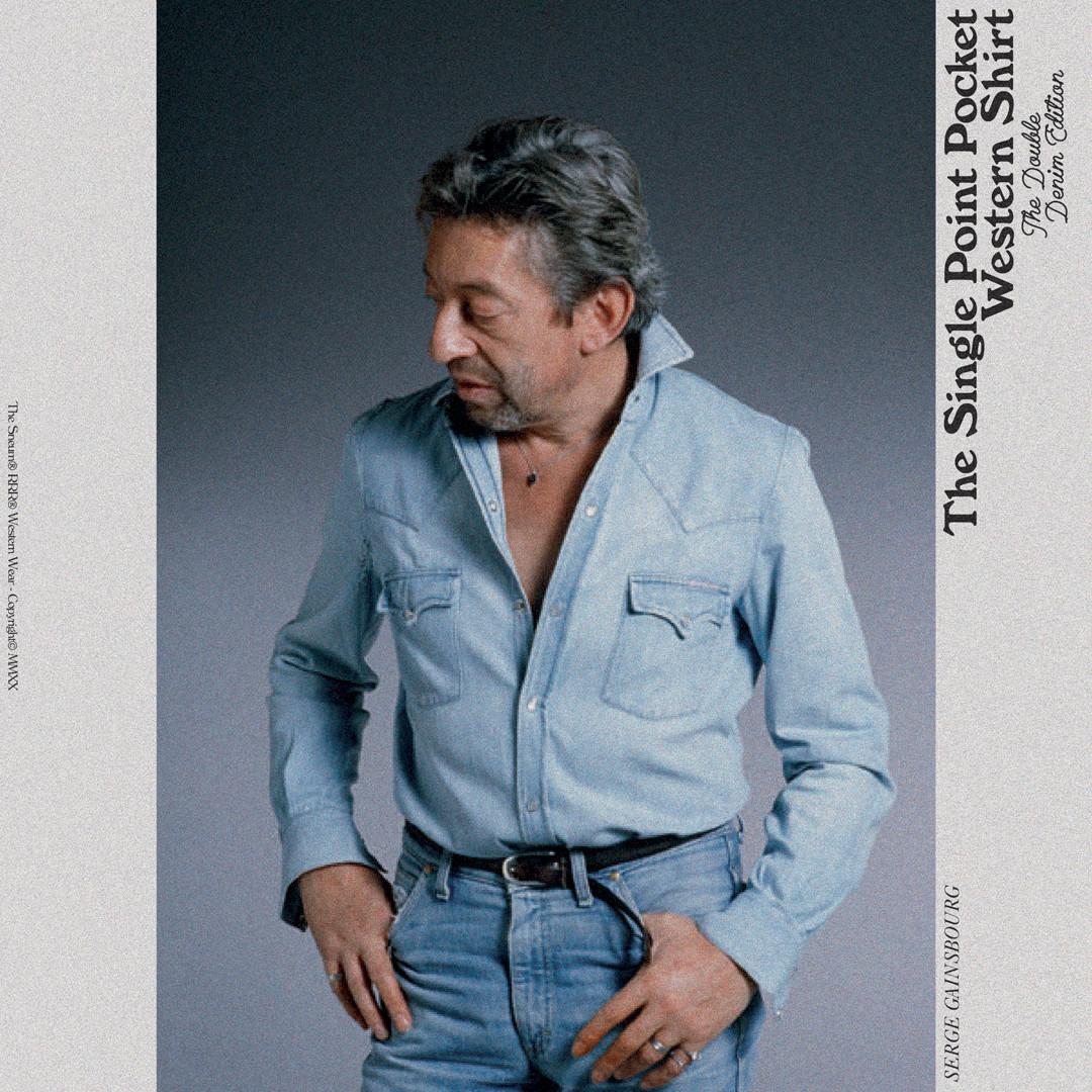Serge Gainsbourg Double Denim Denim Shirt