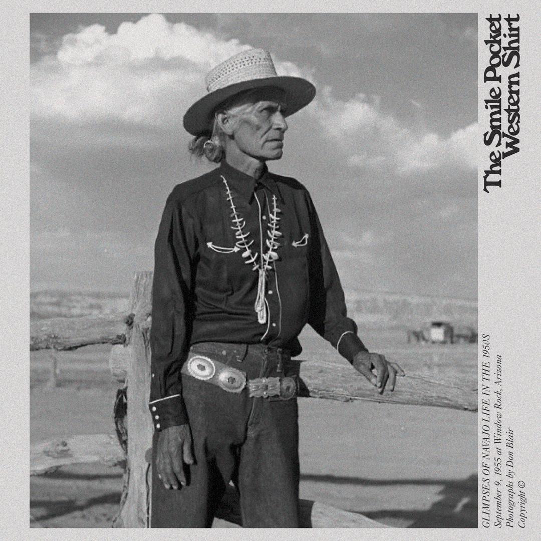 Navajo Native American Smile pocket western shirt