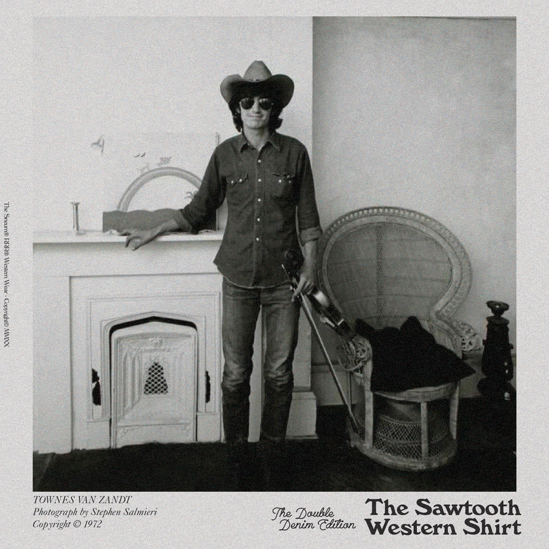 Townes Van Zandt Sawtooth Western Shirt