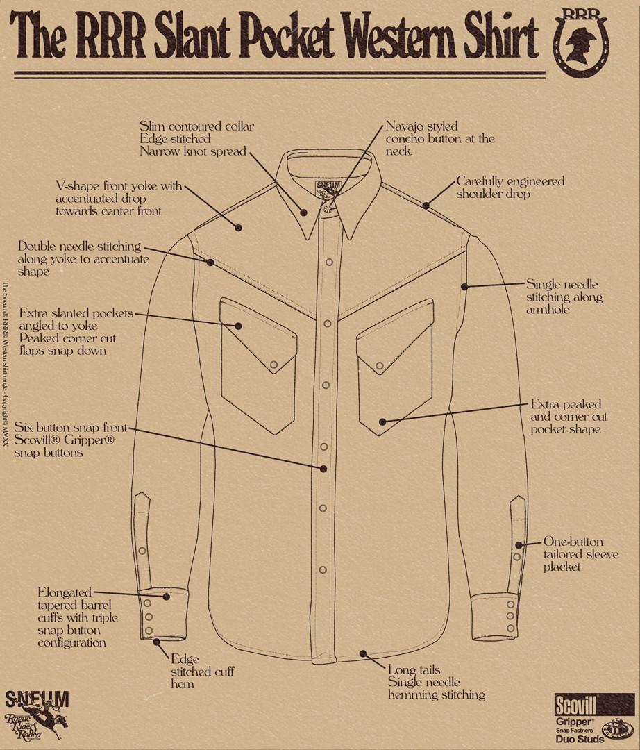 Slant pocket western shirt