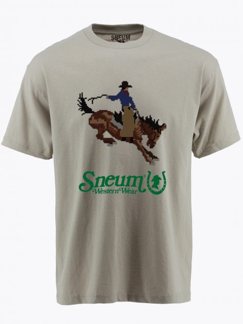 Pixel rodeo cowboy t-shirt tee